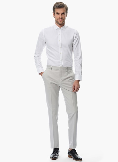 Slim Fit İtalyan Yaka Gömlek-Network